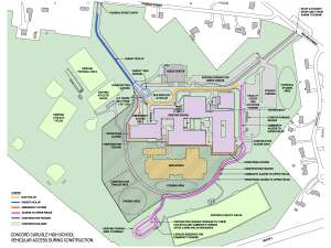 CCHS Construction Access Map