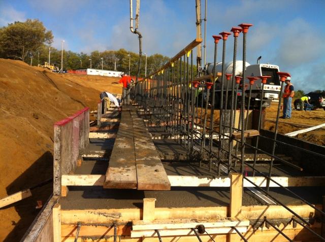 First concrete pour 5/10/13
